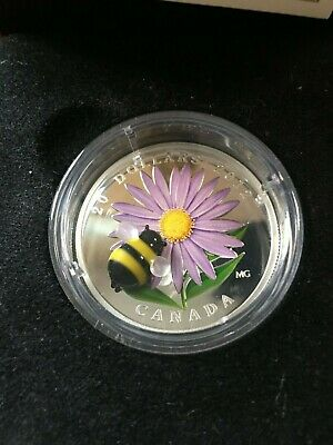 2012  Aster & Bumble Bee, RCM Proof Silver $20 Dollar Coin