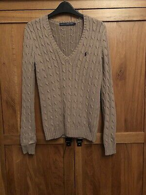 Ralph Lauren Ladies Cable Knit Jumper Size Small