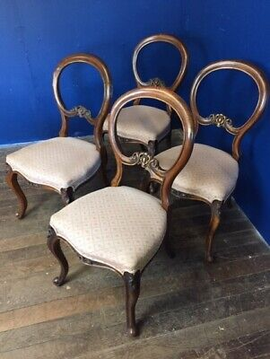 Victorian Balloon Back Dining Chairs set of 4