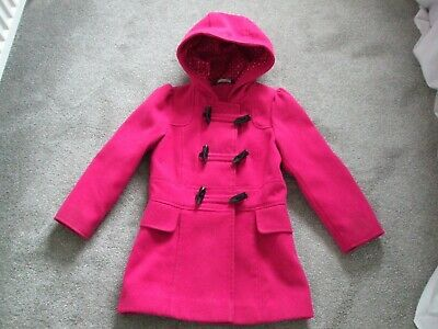 GIRLS HOODED DUFFLE STYLE COAT by GEORGE AGE 5-6 yrs HEIGHT 110-116cm