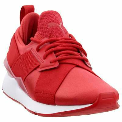 PUMA MUSE SATIN EP Pearl Sneakers Casual Red Womens