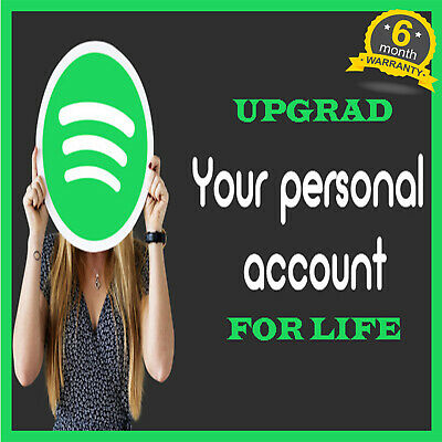 Spotify Premium   Upgrade or New Prersonal LIFETIME Account  6 Months Warranty