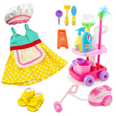 "For American Girl 18"" Inch Dolls Clothes Housekeeping Cleaning Accessories Set"
