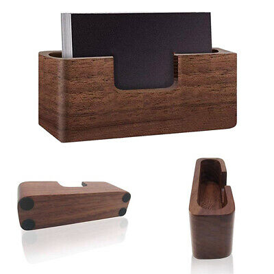 Wood Card Display Holder Tables Organizer Business Single Compartment Storage