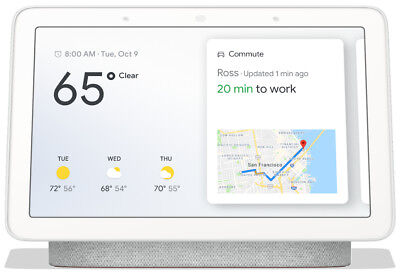 Google Home Hub with Google Assistant (Chalk) (GA00516-US) New Factory Sealed!