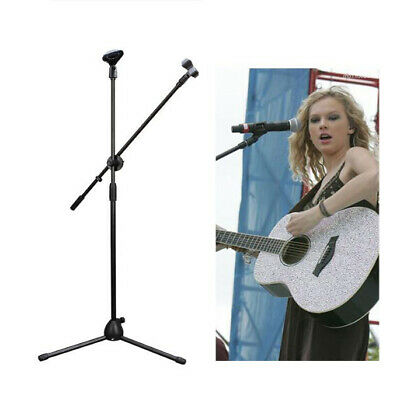 Brand New Professional Boom Microphone Mic Stand Holder Adjustable + Free Clips