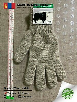Made in Mongolia Yak Wool Gloves Unisex Thick Warm Comfortable