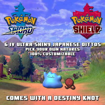 Pick Your Own 6Iv Square Shiny Japanese Ditto | Pokemon Sword And Shield | Cheap