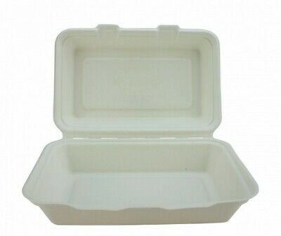 500 Bagasse, Biodegradable, Compostable Fish and Chip Box