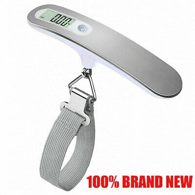 50KG DIGITAL TRAVEL PORTABLE HANDHELD LUGGAGE WEIGHING SCALES SUITCASE BAG Tiny