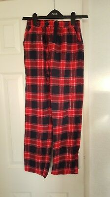 Primark - Childrens Red & Navy Check Pyjama Trousers - Size 11 / 12 - BRAND NEW