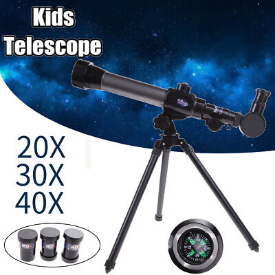 20X 30X 40X Refractor Astronomical Telescope for Children Combo with Tripod L/&6