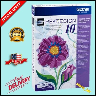 Brother PE Design 10 Embroidery 💯 Full Software & Free Gifts | INSTANT DELIVERY