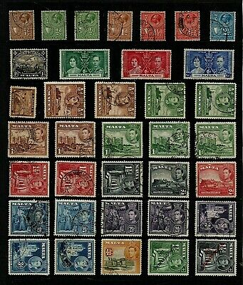 MALTA Stamp COLLECTION  George V & George VI Issues Ref:QP572a