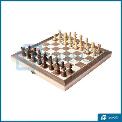 3in1 Folding Chess Set Wooden Board Game Chess Game Set Crafted Chessmen Checker