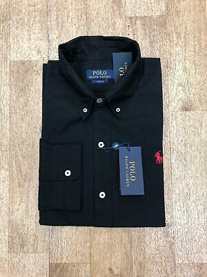 Ralph Lauren Men's Slim Fit Poplin Shirt - Black - Large