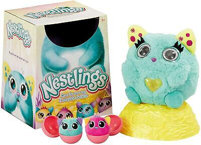 Nestlings Interactive Soft Toy Pet & Babies with Lights and Sounds - Teal Colour