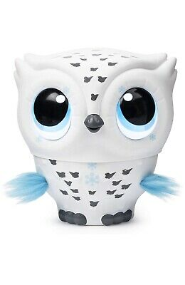 Owleez, Flying Baby Owl Interactive Toy with Lights & Sounds (White) Brand New