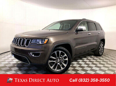 2018 Jeep Grand Cherokee Limited Texas Direct Auto 2018 Limited Used 3.6L V6 24V Automatic RWD SUV