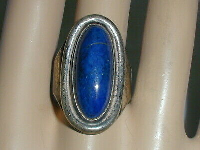 Rare Vintage David Andersen Norway Sterling Large Lapis Ring Size 8.5 Adjustable