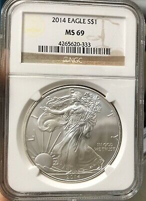 2014 American Silver Eagle NGC Certified MS 69