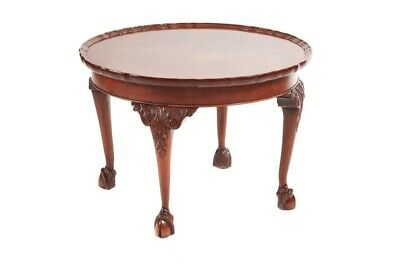 Round Burr Walnut Pie Crust Top Coffee Table c.1920