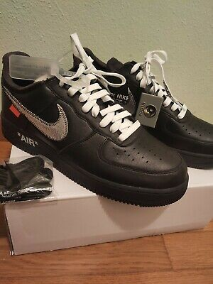 SCARPE NIKE AIR Force 1 x Off White nere nuove EUR 110,00