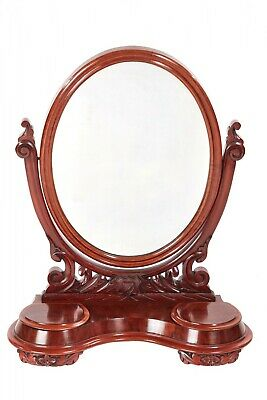 Quality Antique Victorian Mahogany Dressing Table Mirror