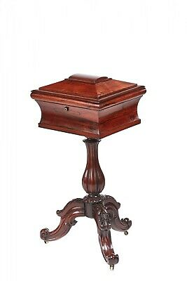 Quality Victorian Carved Rosewood Teapoy
