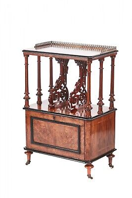 Quality Victorian Inlaid Burr Walnut Canterbery