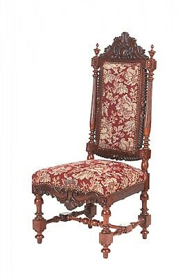Quality Victorian Carved Rosewood Side Chair