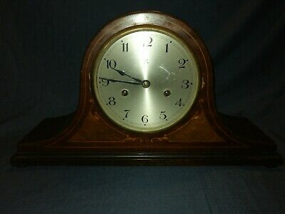 Art Deco HAC Mantle Clock. Mahogany with Inlay & Stringing. Working.