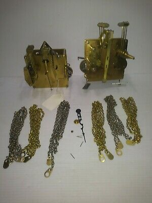 TWO HERMLE EMPEROR BLACKFOREST CLOCKS GRANDFATHER CLOCK MOVEMENT 451-050H 94cm.