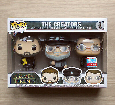 Funko Pop Game of Thrones The Creators 3 Pack NYCC + Free 3 Pack Protector