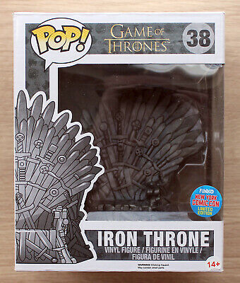"Funko Pop Game Of Thrones Iron Throne 6"" NYCC + Free 6"" Protector"