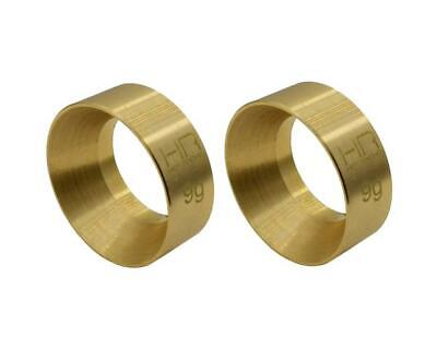 Hot Racing Axial SCX24 Brass KMC Machete Wheel Weights (9g) [HRASXTF2612H]