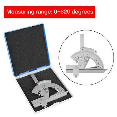 0-320° Precision Angle Measuring Finder Carbon Steel Bevel Protractor Universal
