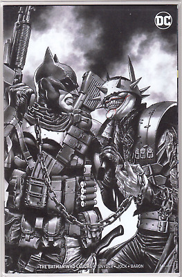 BATMAN WHO LAUGHS #4 Mico Suayan Minimal B&W Exclusive Limited VARIANT Cover NM+