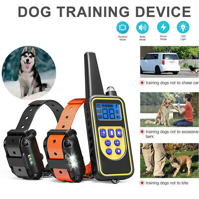 Waterproof Dog Training Electric Collar Rechargeable Remote Control 875 Yards FY