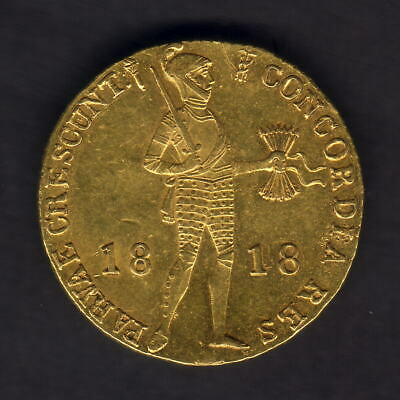Netherlands. 1818 Gold - Trade Ducat..  EF - Much Lustre