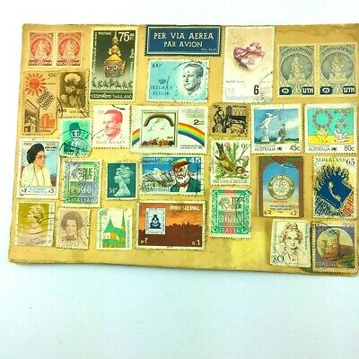 Stamp Collection Different Old Vintage World Stamps Free Gift Worldwide