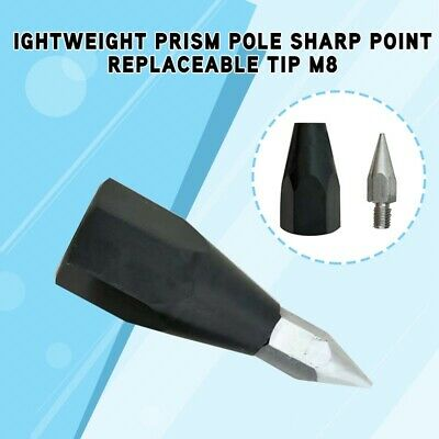 Lightweight Prism Pole Sharp Point Replaceable Tip M8 Thread For Topcon / Leica