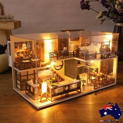 Rolife 3D Wooden Dollhouse Ancient Town DIY Miniature Model Christmas Gifts Toy