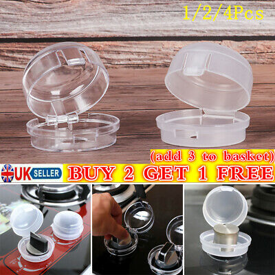 1/2/4PCS Knob Cover Gas Stove Protector Baby Safety Protection Oven Lock Lid