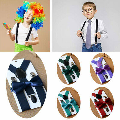 Adjustable Suspender and Bow Tie Set for Baby Toddler Kids Boys Girls Child