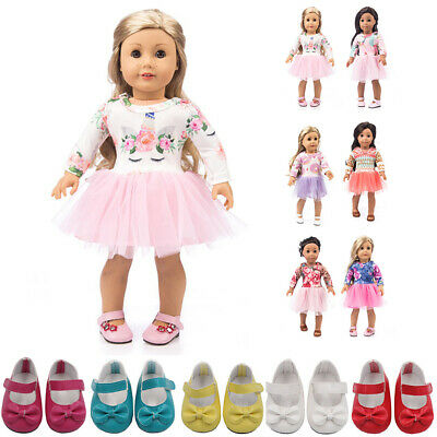 Doll Clothes Pink Dress Outfits / Shoes For 18 Inch Our Generation Girl Dolls Uk