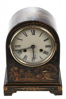 Chinoiserie Cased Dome Topped Mantel Clock