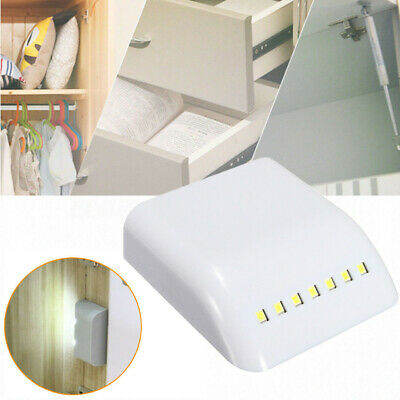 7 LED Wireless PIR Motion Sensor Night Light Cabinet Cupboard Drawer Stair Lamp