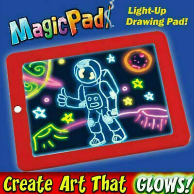 3D Magic Pad Kids Toy Light Up LED Board Drawing Tablet Art Kids Christmas Gift