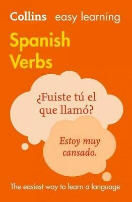 Easy Learning Spanish Verbs, Paperback by Collins Dictionaries, Like New Used...